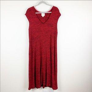 Maeve Anthro | Ribbed Short sleeve Maxi Dress